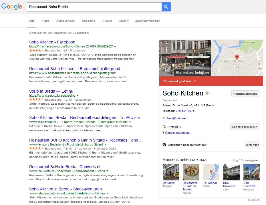 GetBright zoekresultaten rechts 2