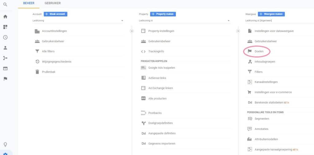 Google-analytics-doelen
