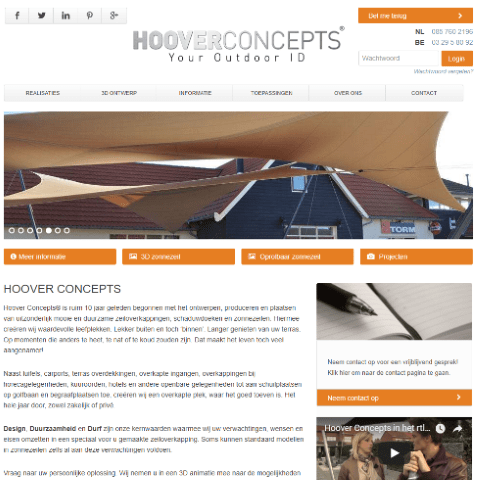 Hoover Concepts website homepage