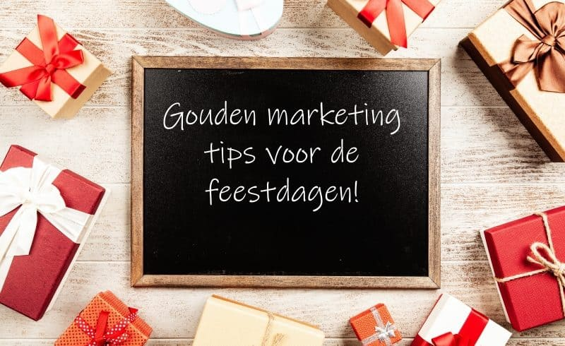 blackboard gouden marketing tips voor de feestdagen