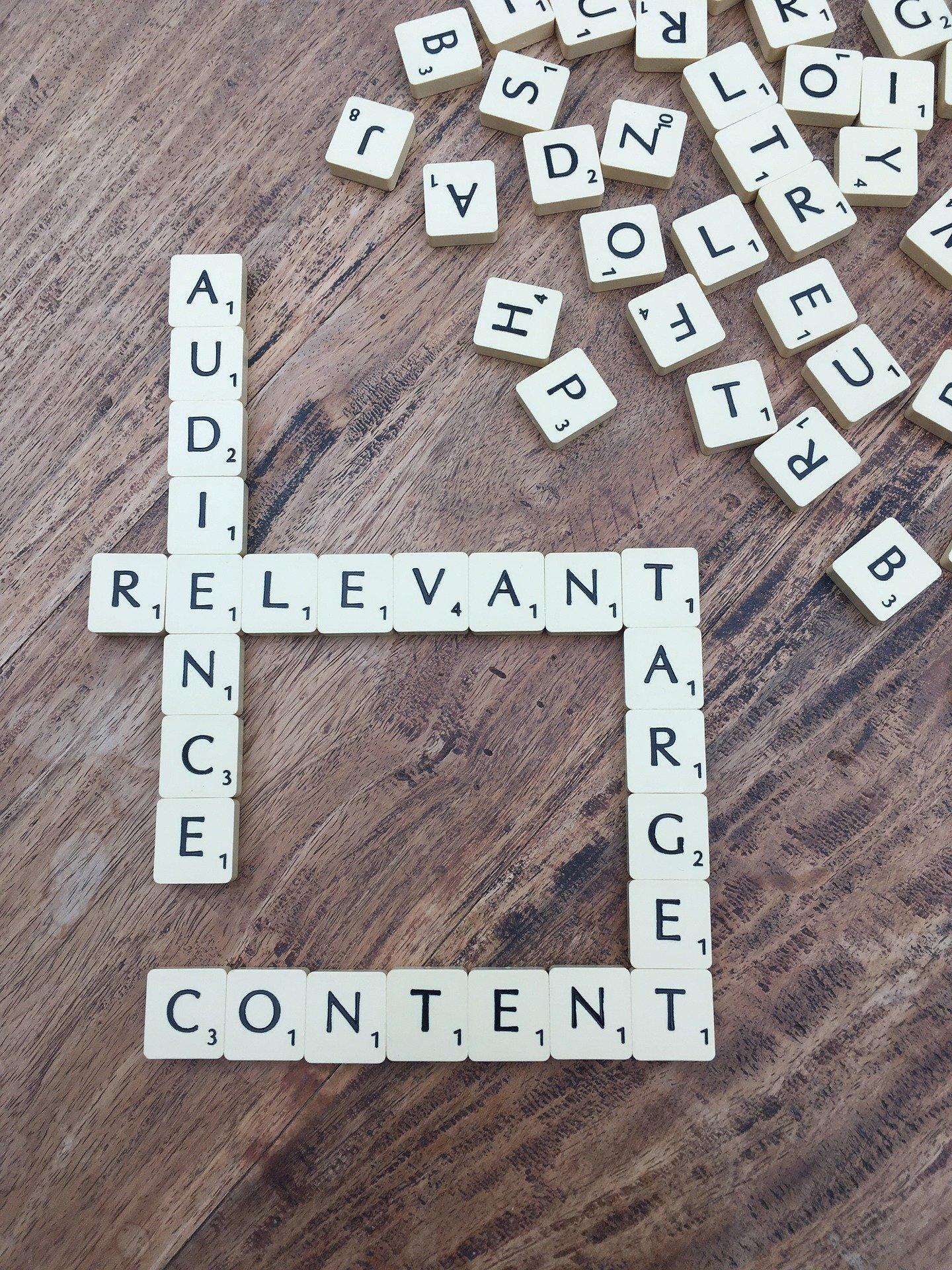 scrabble letters content audience