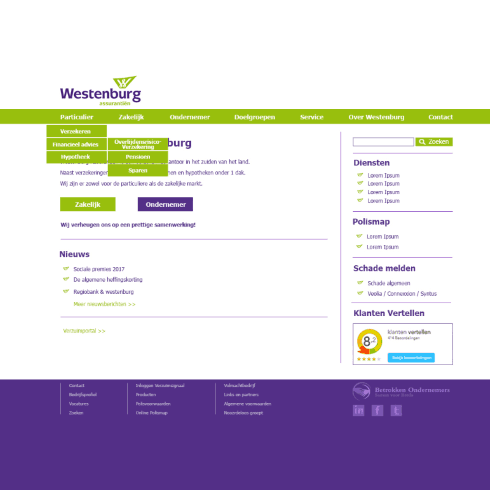 website westenburg voor redesign