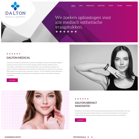 dalton medical website homepage