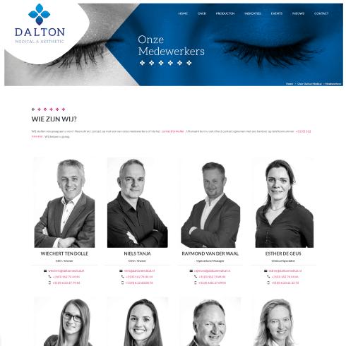 dalton medical website medewerkers