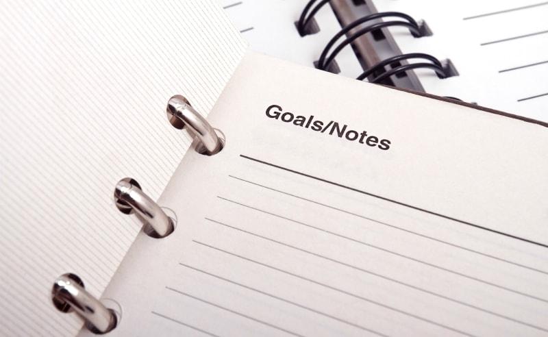doelen bedenken noteblok