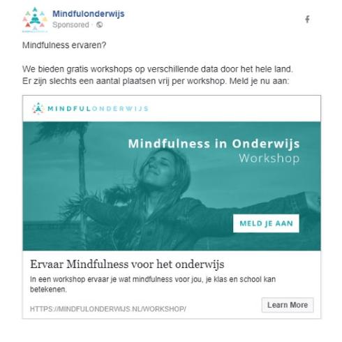 facebook do mindful onderwijs