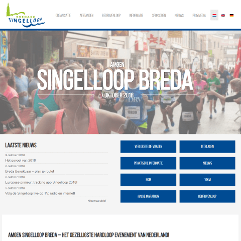 bredase singelloop website homepage