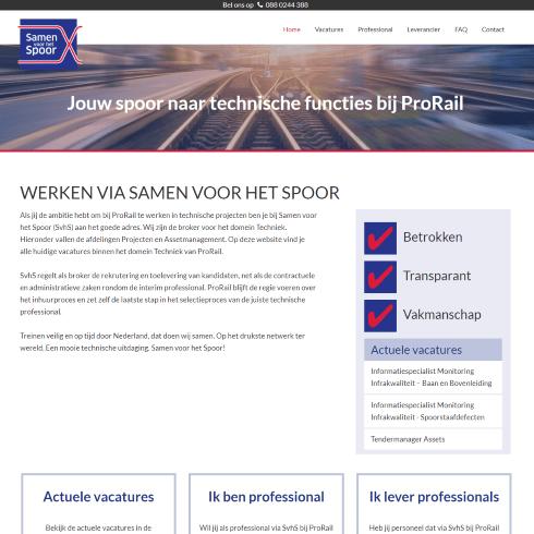 homepage samen voor het spoor
