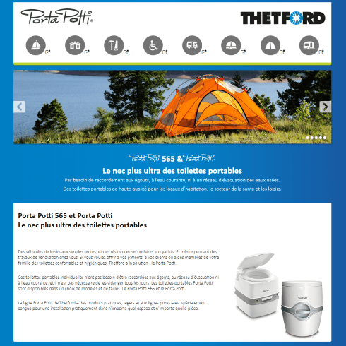 porta potti franse website
