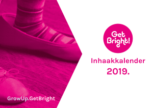 Inhaakkalender 2019 GetBright